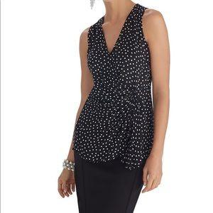 WHBM Women's Sleeveless Silk Blouse